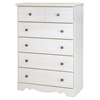 Country Poetry Twin Mates Bedroom Set - 4 Drawers, White Wash - SS-9031080-BED-SET