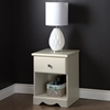 Country Poetry Nightstand - 1 Drawer, White Wash - SS-9031062