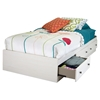 Country Poetry Twin Mates Bed - 3 Drawers, White Wash - SS-9031080