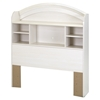 Country Poetry Twin Bookcase Headboard - White Wash - SS-9031098