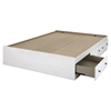 Country Poetry Full Mates Bed - 3 Drawers, White Wash - SS-9031211