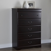 Vintage 5 Drawers Chest - Dark Mahogany - SS-9033035