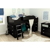 Imagine Twin Loft Bed with Storage and Chest - Black Oak - SS-9034A3