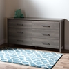 Gravity Double Dresser - 6 Drawers, Gray Maple - SS-9036010