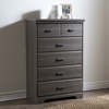 Versa 5 Drawers Chest - Gray Maple - SS-9041035