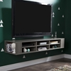 "City Life 66"" Wide Wall Mounted Media Console - Gray Maple - SS-9042677"