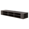 "City Life 66"" Wide Wall Mounted Media Console - Gray Maple"
