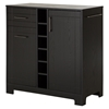 Vietti Bar Cabinet - Bottle and Glass Storage, Black Oak