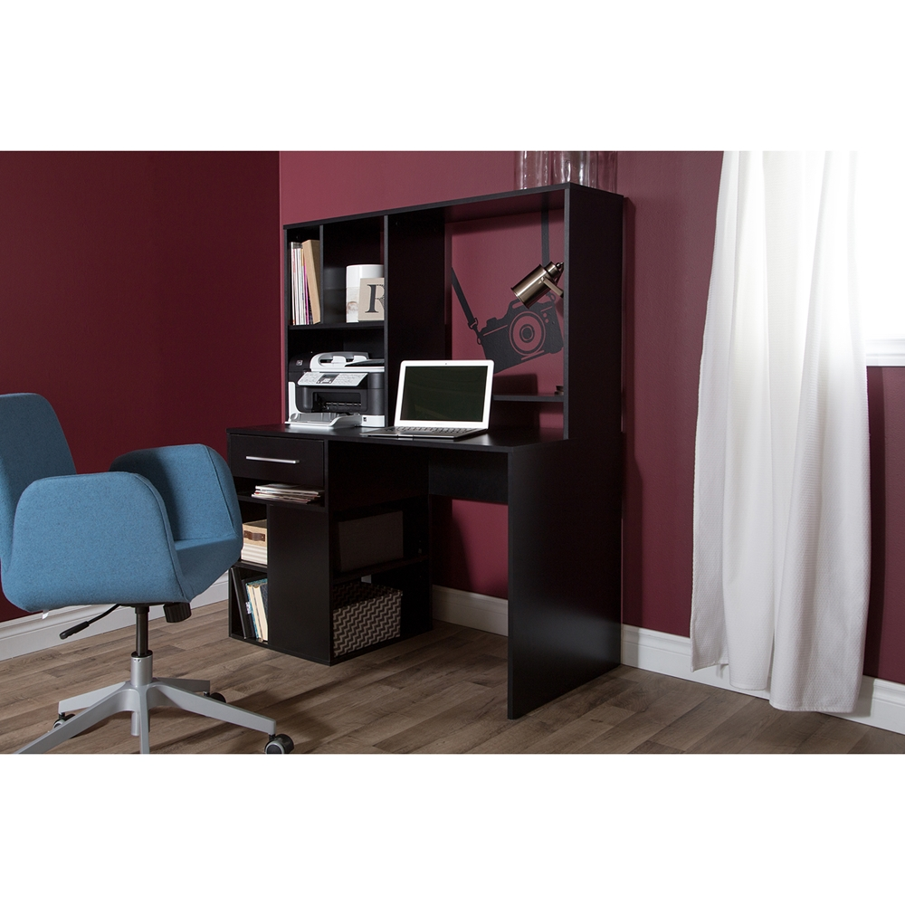 South Shore Furniture Annexe Home Office Computer Desk: Annexe Home Office Computer Desk - Pure Black