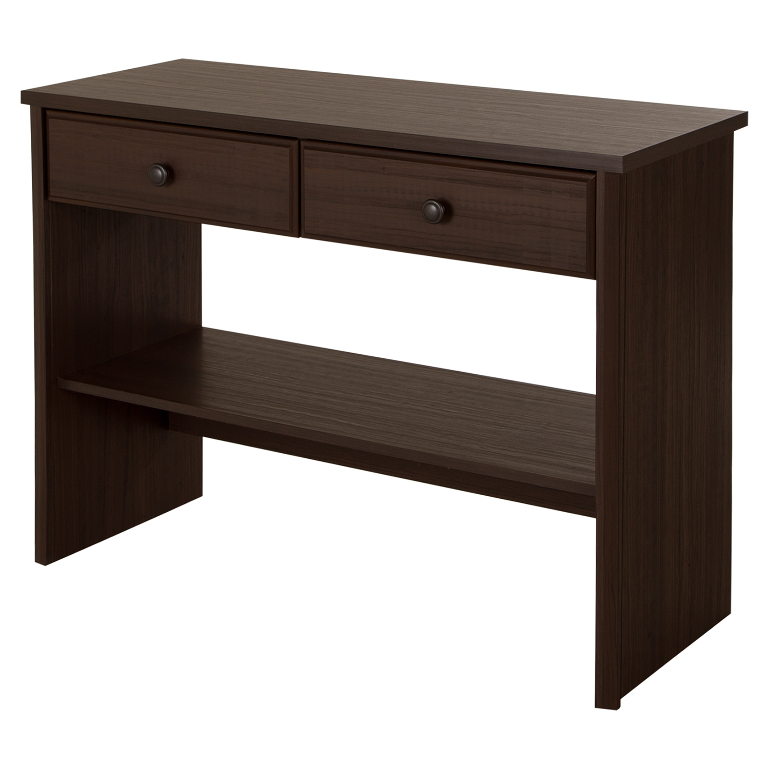Beaujolais Console Table 2 Drawers Matte Brown Dcg Stores