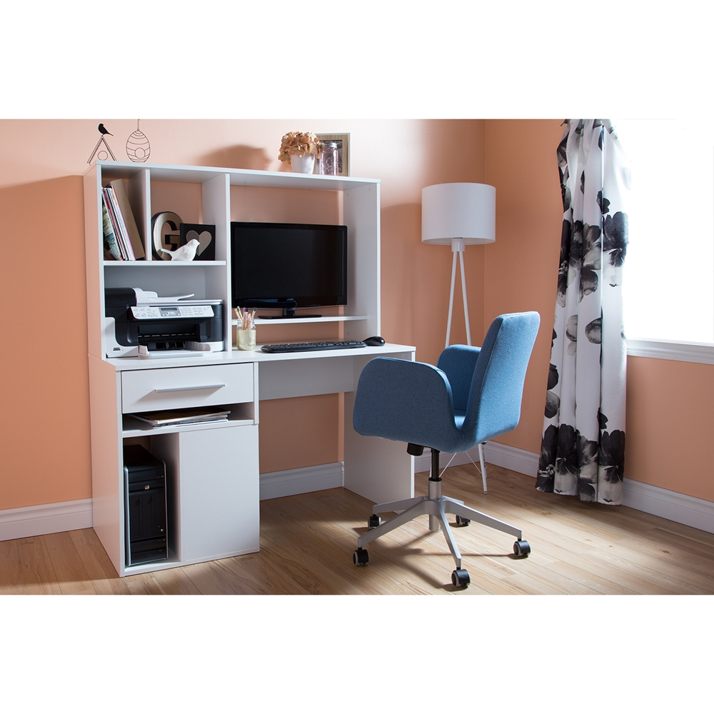 Annexe Home Office Computer Desk Pure White Dcg Stores