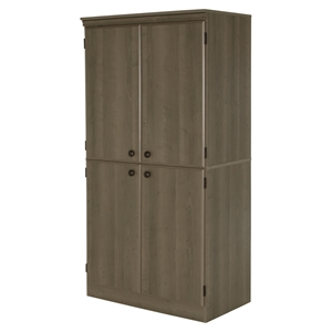 Morgan 4 Doors Storage Cabinet - Gray Maple