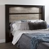 Gloria King Headboard - 2 Lights, Chocolate, Weathered Oak - SS-9057290