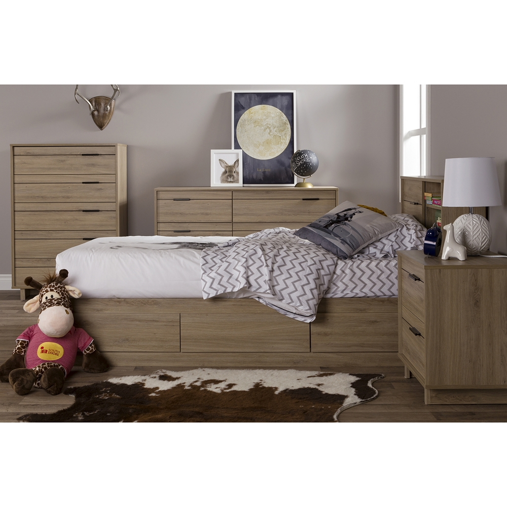 Fynn Twin Mates Bed 3 Drawers Rustic Oak Dcg Stores