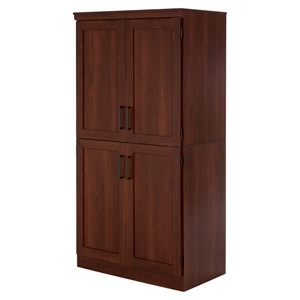 Morgan 4 Doors Shaker Armoire - Royal Cherry