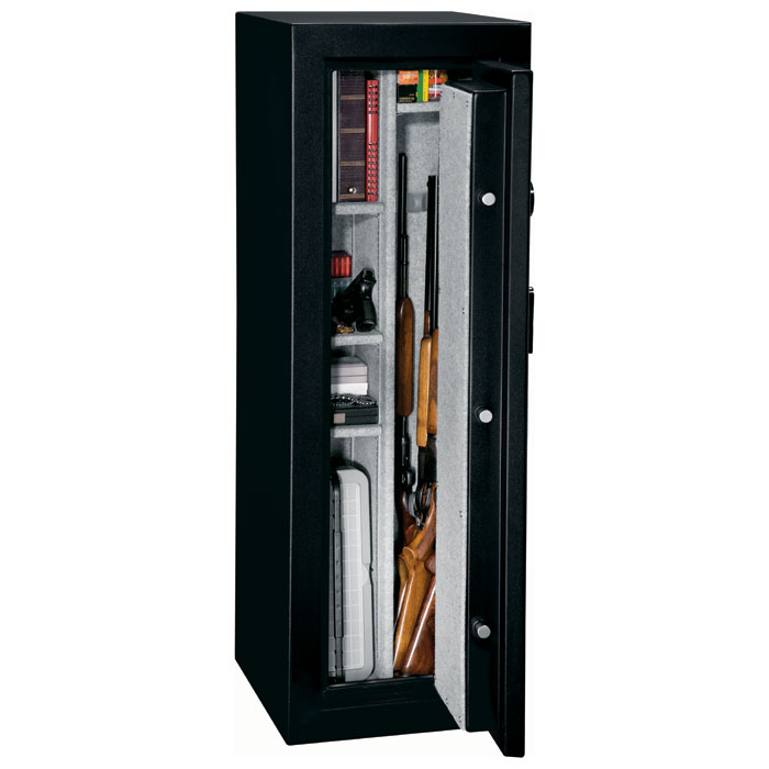 FS Series Black Fire Resistant Safe w/ Electronic Lock - 14 Gun - STO-FS-14-MB-E#