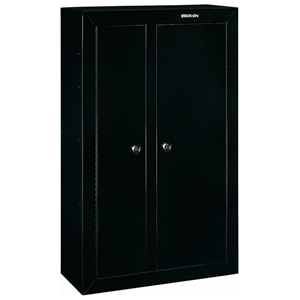 10-Gun Double Door Security Cabinet - Black
