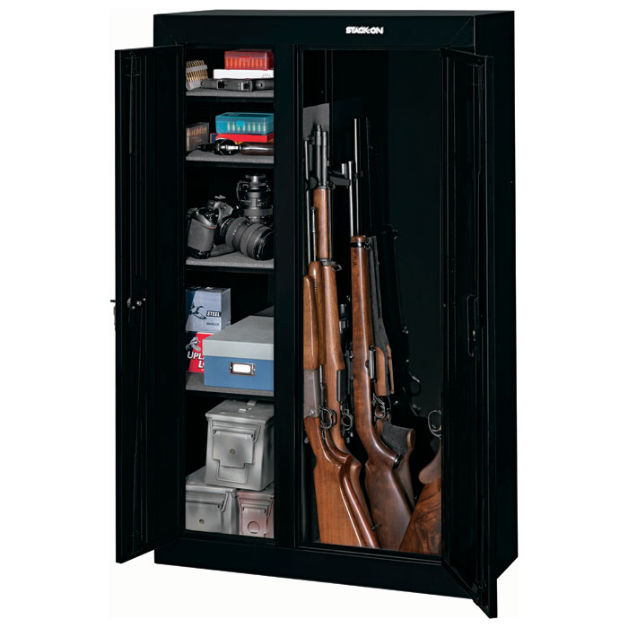 10gun double door security cabinet black stogcdb924