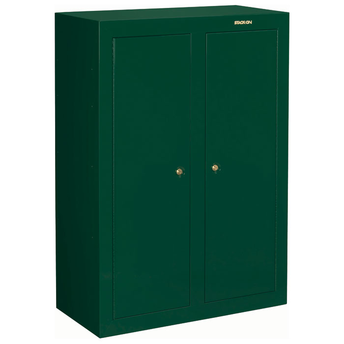16 to 31-Gun Convertible Double Door Security Cabinet - Hunter Green