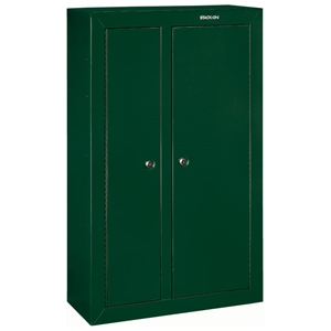 10-Gun Double Door Security Cabinet - Hunter Green