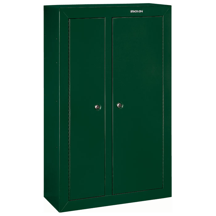 10 gun double door security cabinet hunter green dcg for 10 gun double door steel security cabinet