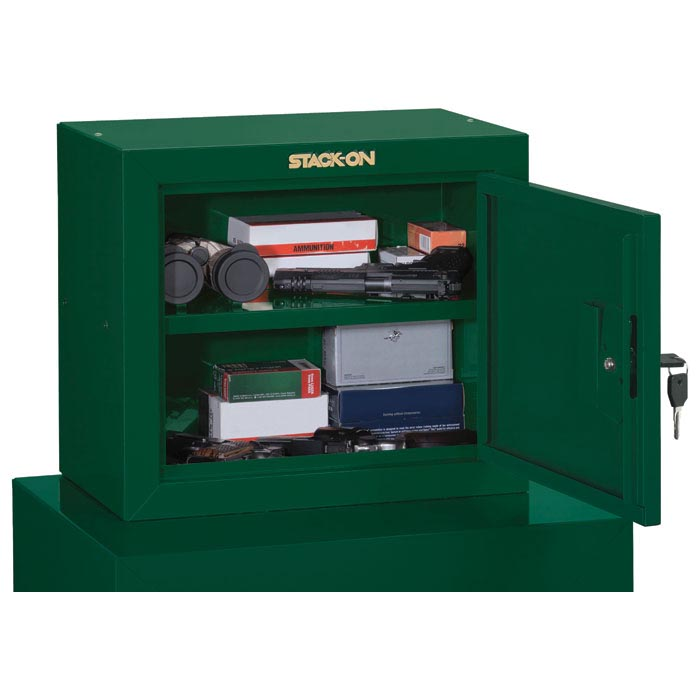 Pistol Ammo Security Cabinet w/ 1 shelf - Hunter Green - STO-GCG-500-DS#