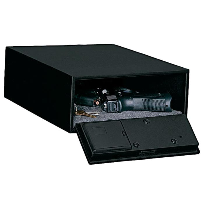 Low Profile Quick Access Safe w/ Electronic Lock and Mounting Plate - STO-QAS-1304-12-DS