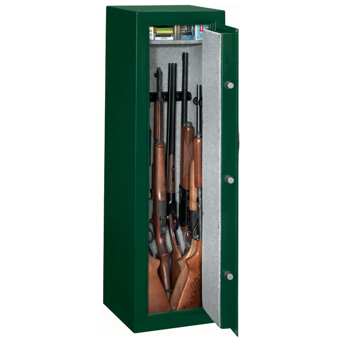 Security Green 10-Gun Safe w/ Combination Lock - STO-SS-10-MG-C#