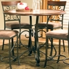 Thompson Round Counter Table - Cherry Top, Wrought Iron Base - SSC-TP450T-TP360PB