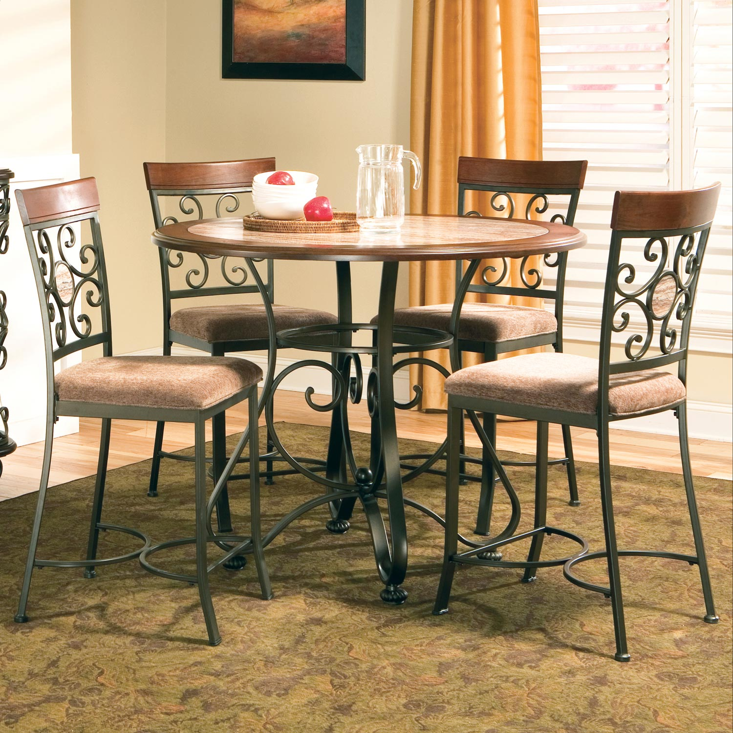 Thompson 5 Piece Counter Dining Set