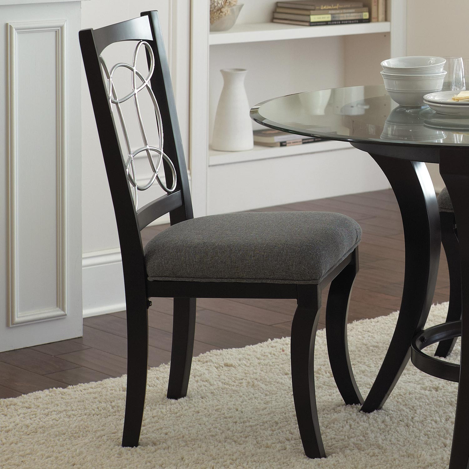 Cayman Side Chair - Black Frame, Gray Seat (Set of 2) - SSC-CY480S