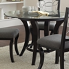 Cayman Modern Round Dining Set - Glass, Metal, Marble, Wood - SSC-CY480-5PC