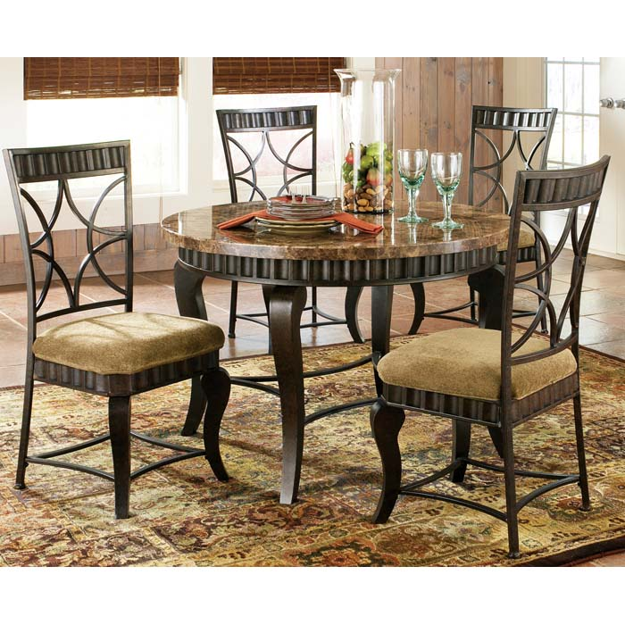 Hamlyn 5 Piece Dinette Set with Marble Top Table - SSC-HL500-5PC