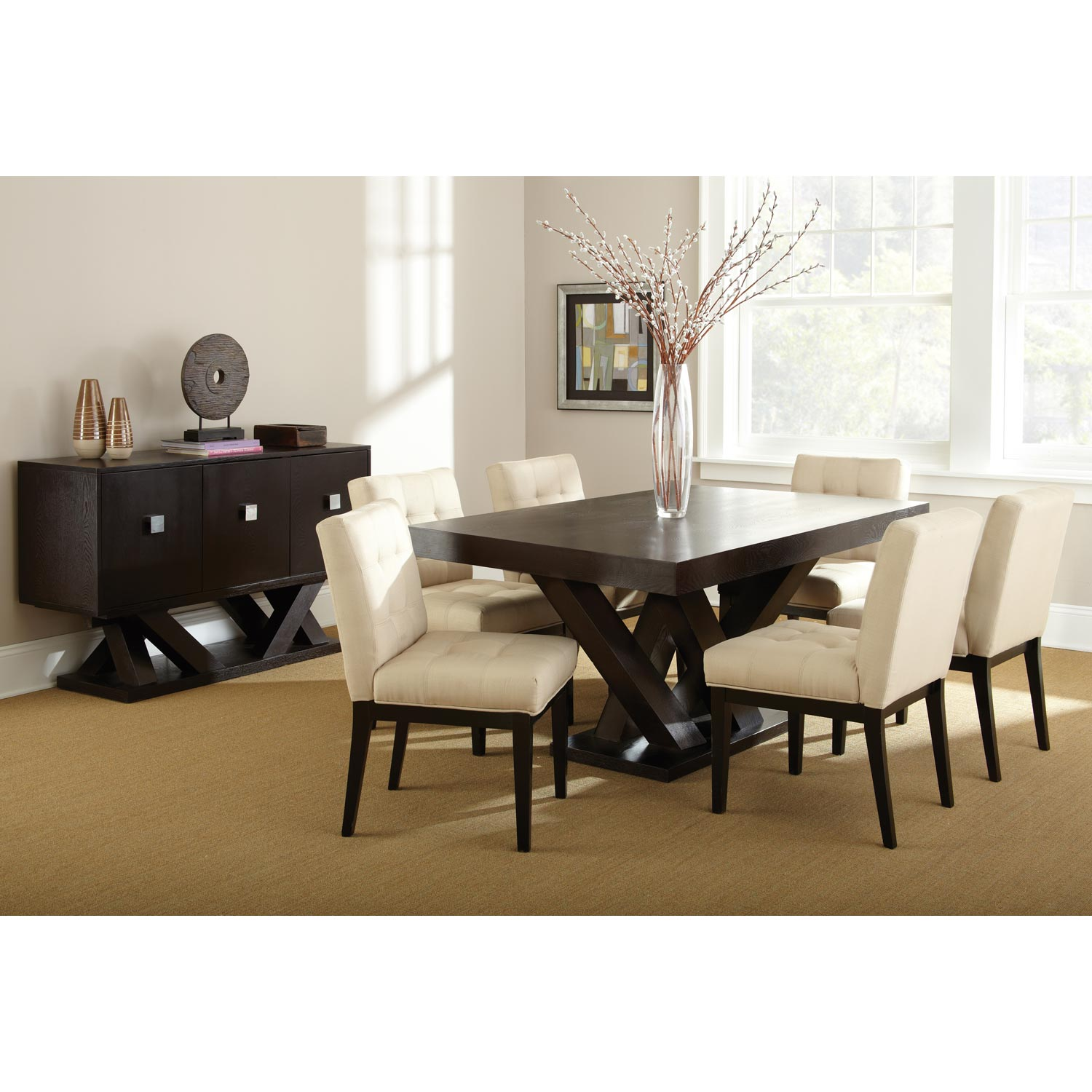 Tiffany Rectangular Dining Table - Espresso Wood - SSC-TF500T