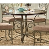 Thompson 5 Piece Dinette Set with Metal Scroll and Marble Accents - SSC-TP450-5PC