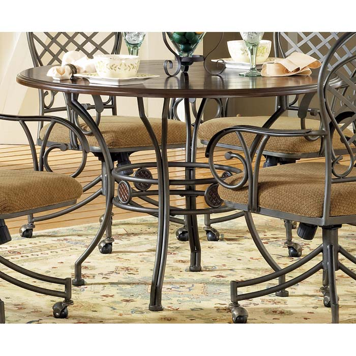 Wimberly Round Top Dinette Table - SSC-WB450T-WB450B