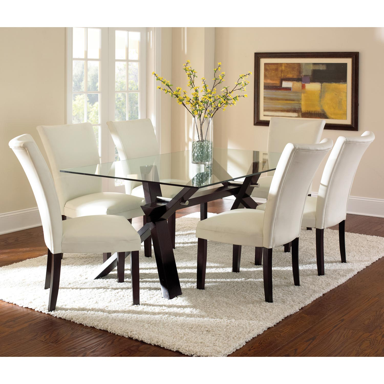 Berkley Leather Parson Chair - White, Wood Legs (Set of 2) - SSC-BE550SN