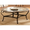 Gallinari Cocktail Table - Beveled Glass, Black Metal Base - SSC-GN300C