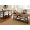Winston Sofa Table - Distressed Tobacco, Antiqued Metal - SSC-WN400S
