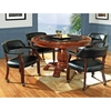 Tournament 5 Piece Game Set with Black Chairs on Casters - SSC-TU-BLK-GAME-5PC