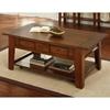 Desoto Coffee Table Drawers Casters Dark Oak Finish