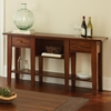Desoto Console Table - Drawers, Shelves, Dark Oak Finish - SSC-DE200S
