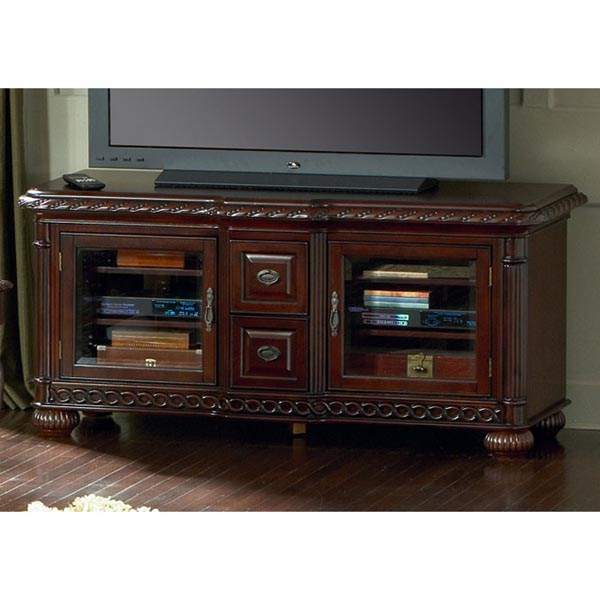 Antoinette TV Cabinet with Pumpkin Bun Feet - SSC-AY600TV
