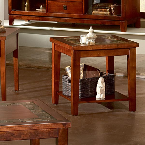 Davenport Slate Inlay Top End Table Dcg Stores