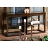 Alberto Dark Cherry Sofa Table with Ceramic Tile Inlays - SSC-AL100S