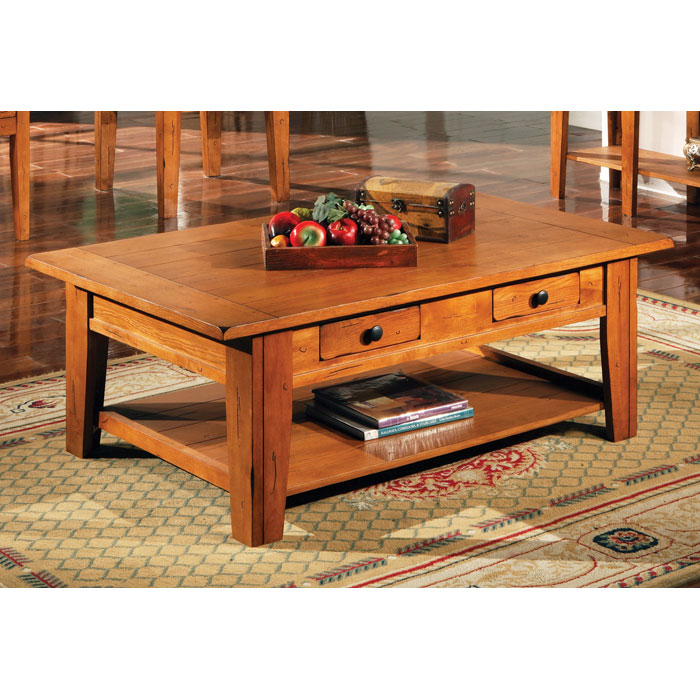 Liberty Cocktail Table in Oak Finish - SSC-LY600C
