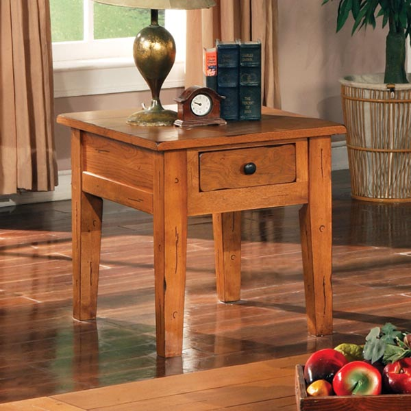 Liberty Country Style End Table Nightstand in Oak DCG Stores
