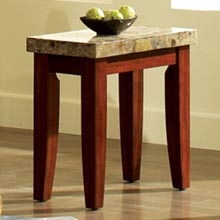 Montibello Chairside End Table with Cherry Legs