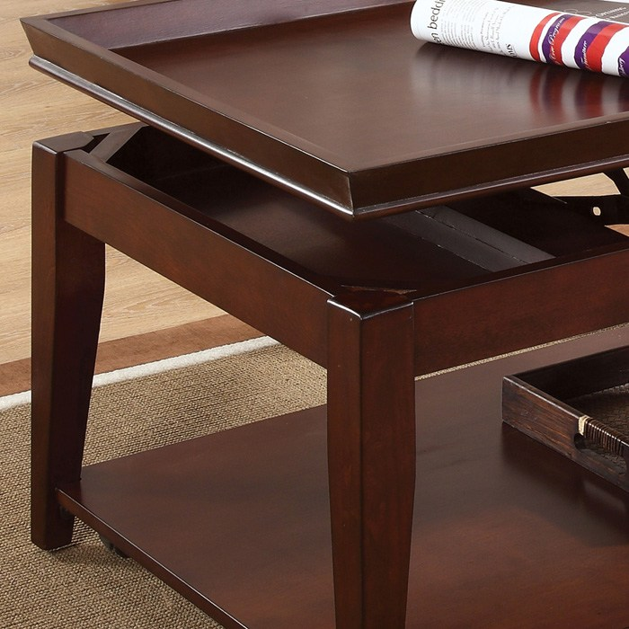Clemens Coffee Table End Tables Set Cherry Finish Dcg Stores