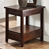 Crestline Chairside End Table - Drawer, Distressed Walnut - SSC-CL200EC